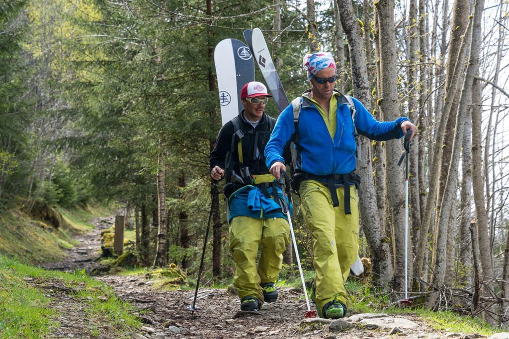 Ski freeride hors pistes à Chamonix