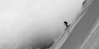ski snowboard pente raide chamonix